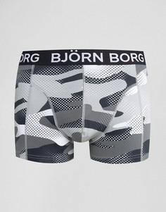 Боксеры-брифы с сетчатым камуфляжным принтом Bjorn Borg - Черный