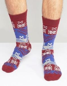 Новогодние носки-слиперы с традиционным узором Фэйр-Айл ASOS - Мульти