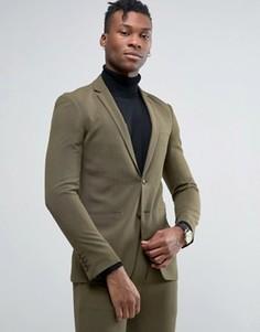 Супероблегающий пиджак Rogues of London - Зеленый