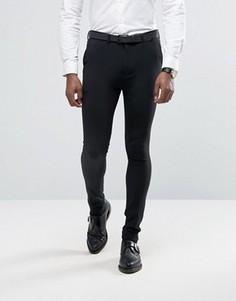 Супероблегающие брюки Rogues of London - Черный
