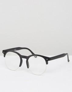 Винтажные круглые очки в черной оправе ASOS - Черный
