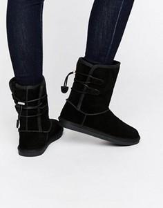 Черные ботинки из нубука Call It Spring Bridia - Черный