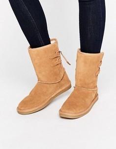 Бежевые замшевые ботинки Call It Spring Bridia - Бежевый