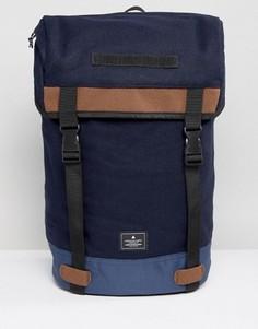Темно-синий походный рюкзак из мельтона с контрастной отделкой ASOS - Темно-синий