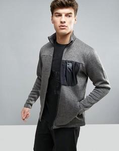 Удлиненная меланжевая спортивная куртка с воротником-стойкой Jack & Jones - Серый