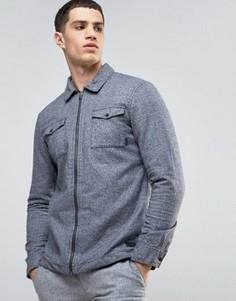 Куртка-рубашка из чесаного хлопка Esprit - Серый