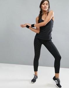 Леггинсы Adidas Running - Черный