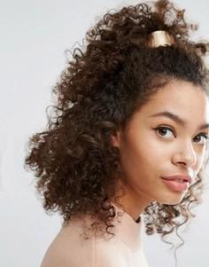 Резинка для волос с планкой Nylon - Золотой