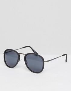 Круглые солнцезащитные очки в черепаховой оправе Quay - Черный