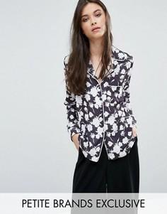 Рубашка в пижамном стиле с цветочным принтом Alter Petite - Мульти