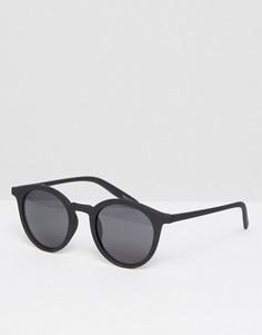 Круглые солнцезащитные очки с черной матовой оправой Quay - Черный