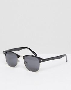 Черные матовые солнцезащитные очки в стиле ретро Quay - Черный