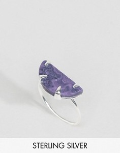Серебряное кольцо с полумесяцем ASOS - Серебряный