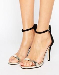 2-цветные сандалии на каблуке Miss Selfridge - Черный