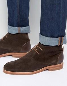 Замшевые ботинки чукка Hudson London Matteo - Коричневый