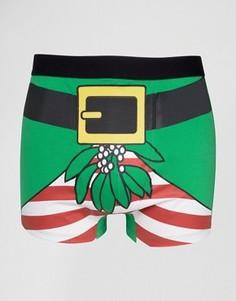 Новогодние боксеры SSDD - Зеленый