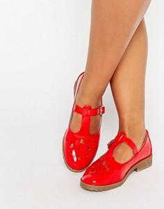Туфли на плоской подошве ASOS MONTREAL - Красный