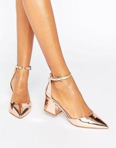 Остроносые туфли на каблуке ASOS STARLING - Золотой