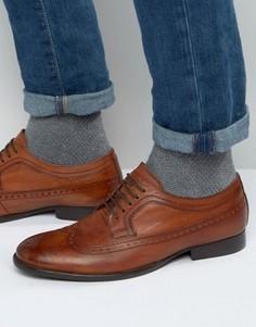 Кожаные оксфордские туфли Base London Bailey - Рыжий