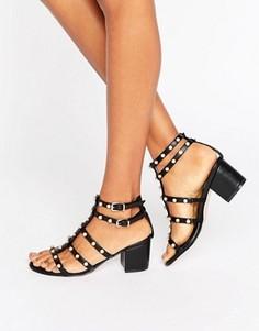 Босоножки на блочном каблуке ASOS HOTSPOT - Черный