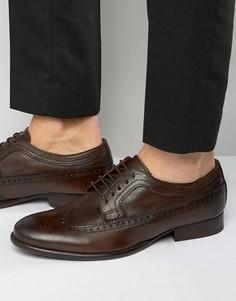Кожаные оксфордские туфли Base London Bailey - Коричневый