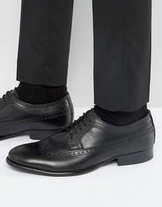 Кожаные оксфордские туфли Base London Bailey - Черный