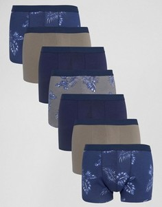 Набор из 7 боксеров-брифов с цветочным принтом ASOS, СКИДКА - Мульти
