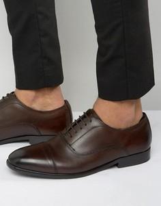 Кожаные оксфордские туфли Base London Richards - Коричневый