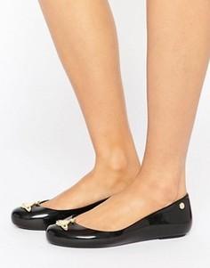 Черные туфли на плоской подошве Vivienne Westwood For Melissa - Черный