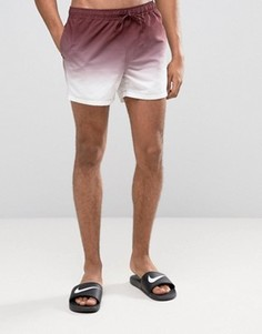 Короткие шорты для плавания с эффектом тай-дай ASOS - Красный