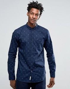 Приталенная рубашка в горошек Hilfiger Denim - Темно-синий