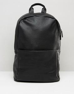 Черный рюкзак из искусственной кожи ASOS - Черный