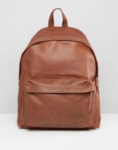 Коричневый кожаный рюкзак с уплотнением Eastpak PakR - Коричневый