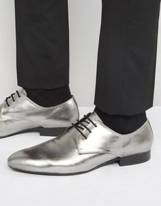 Туфли оловянного цвета со шнуровкой Dune - Черный