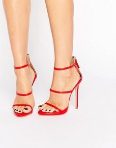 Красные сандалии на каблуке с ремешками Public Desire Aisha - Красный