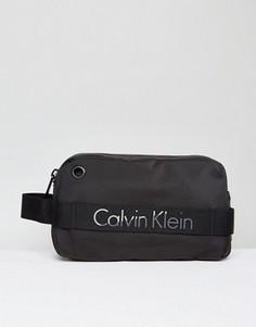 Черный несессер с логотипом Calvin Klein Madox - Черный
