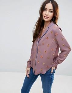 Блузка с принтом жуков ASOS - Мульти
