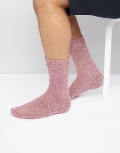 Бордовые носки-слиперы из крученой пряжи ASOS - Мульти
