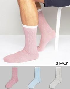 3 пары толстых носков крупной вязки ASOS - Мульти
