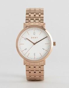 Часы-браслет из розового золота DKNY Minetta - Золотой