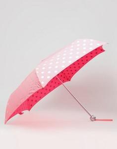 Ярко-розовый зонт в горошек Cath Kidston - Розовый