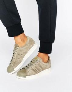 Кроссовки в стиле 80-х adidas Originals Superstar - Кремовый