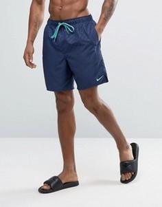 Темно-синие шорты для плавания с тисненым логотипом Nike Core - Темно-синий