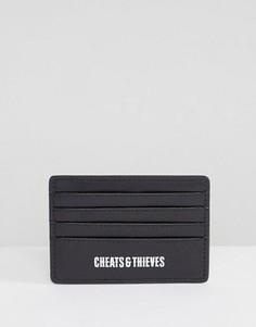 Темная визитница с камуфляжным принтом Cheats and Thieves - Черный