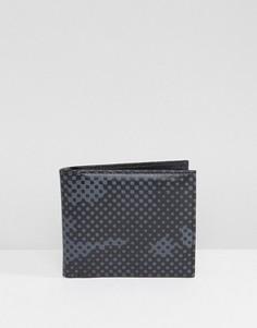 Темный бумажник с камуфляжным принтом Cheats and Thieves - Черный