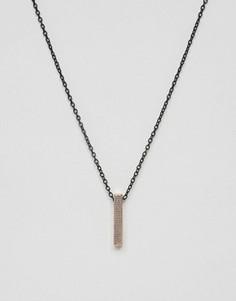 Ожерелье с подвеской‑планкой Icon Brand - Золотой