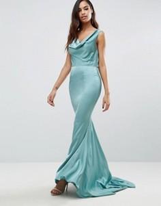 Платье макси со свободным воротом спереди Jarlo Electra - Зеленый