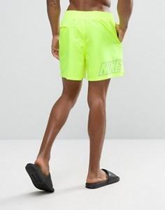 Желтые шорты для плавания с принтом логотипа сзади Nike - Желтый