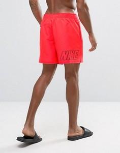 Красные шорты для плавания с принтом логотипа сзади Nike - Красный