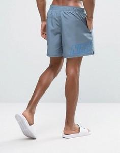 Серые шорты для плавания с принтом логотипа сзади Nike - Серый
